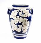 "Intrada Italy Tall Blue Urn 17""H x 13.5""D"