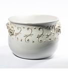 Intrada Italy Terrazza Antique White Planter