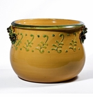 "Intrada Italy Terrazza Planter Yellow 13.5""H x 19""D"