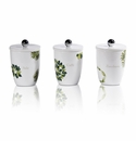 Intrada Italy Vivere Erbe Set of 3 Square Canisters
