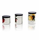 Intrada Italy Vivere Frutta Set of 3 Canisters