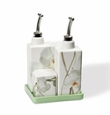 Intrada Italy Vivere Orchid Cruets and Shakers Set