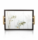 Intrada Italy Vivere Orchid Wood Tray