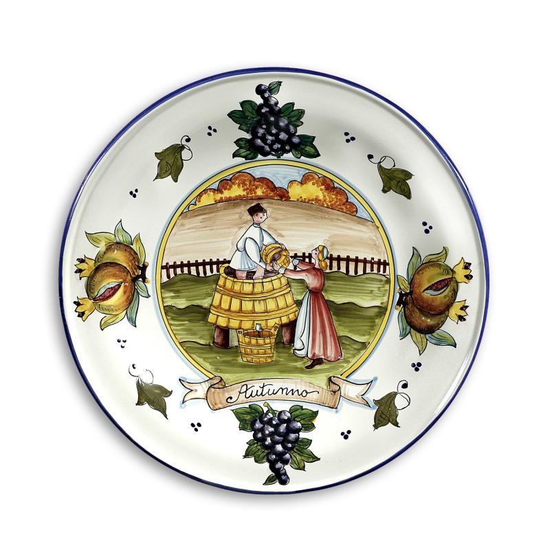 Italy Wall Plate Autumn 14.5\