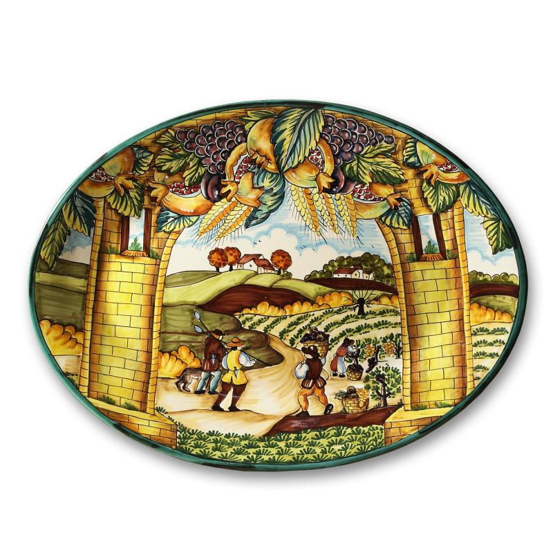 Decorative Wall Plates Italian : Intrada italy wall plate oval summer quot h w