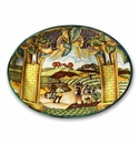 """Intrada Italy Wall Plate Oval - Summer 16.5""""H x 22""""W"""