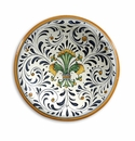 """Intrada Italy Wall Plate with Fleur de Lys Green 11""""D"""