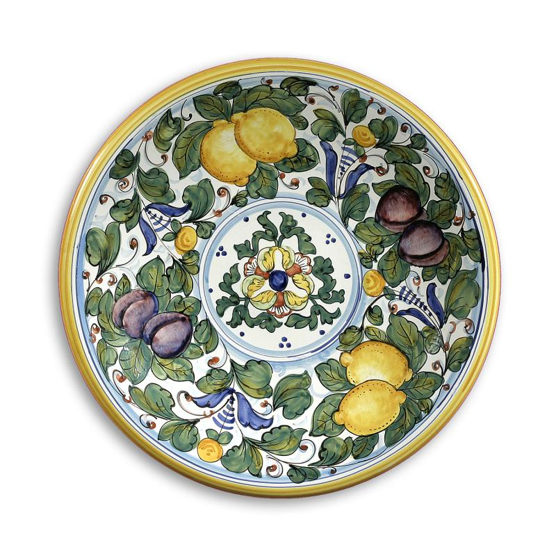 Decorative Wall Plates Italian : Intrada italy wall plate with lemons plums green quot d
