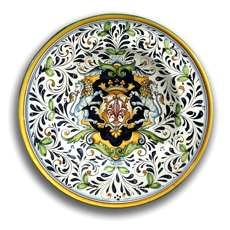 Decorative Wall Plates Italian : Intrada italy wall plate with lions fleur de lys quot d