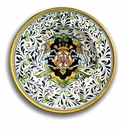 """Intrada Italy Wall Plate with Lions & Fleur de Lys 17""""D"""