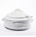 "Intrada Italy White Fish Soup Tureen 14""D x 7.5""H"