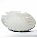 Intrada Italy White Large Shell Bowl 15.5""