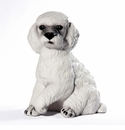 Intrada Italy White Sitting Poodle Dog Statue