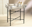 "Iron Bamboo Tray Stand (For 24"" X 18 Tray) Home Decor"