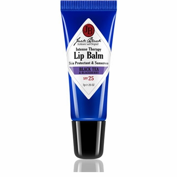 Jack Black Men's Intense Therapy Lip Balm SPF 25, Black Tea & Blackberry, .25 oz