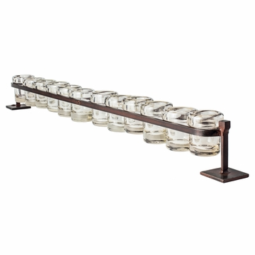 Jan Barboglio 12-Step Firedance Railroad Candleholder