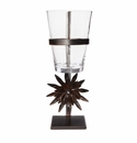 Jan Barboglio Ines Forged Iron Stand with Sunflower and Glass Vessel