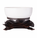 Jan Barboglio Rosa Laurel Forged Iron Rose Stand with Ceramic Bowl