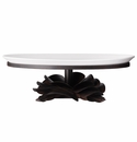 Jan Barboglio Rosa Laurel Forged Iron Rose Stand with Ceramic Tray