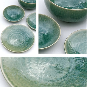 & Jars Ceramics Tourron Jade Dinnerware