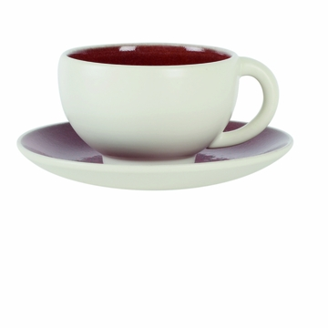Jars Tourron Natural Cerise Cup And Saucer 6oz