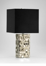 Java Ceramic Silver Table Lamp by Cyan Design