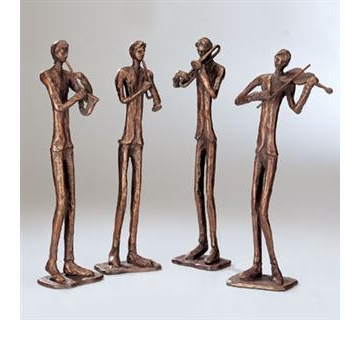 Jazzy Quartet Sculptures (Set of 4 Jazz Players) by SPI Home