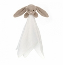 Jellycat Bashful Beige Bunny Muslin Soother Plush Toy