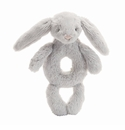 Jellycat Bashful Bunny Grey Ring Rattle