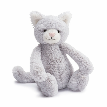 Jellycat Bashful Kitty Grey Medium Plush Animal
