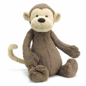 Jellycat Bashful Monkey - Medium Stuffed Animal