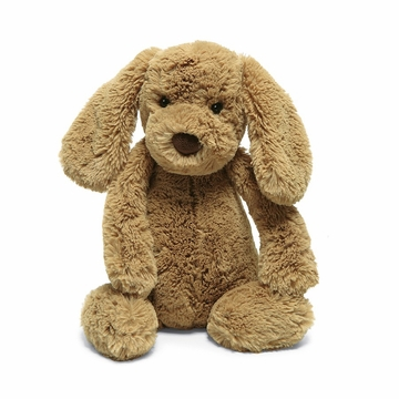 Jellycat Bashful Puppy Toffee Small Brown Dog Stuffed Animal Toy