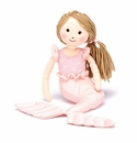 Jellycat Shellbelle Millie Mermaid Stuffed Toy with Brown Hair