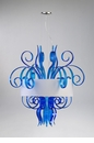Jellyfish Large Blue Glass Pendant Light by Cyan Design