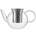 Jenaer Glass Good Mood Teapot with Stainless Steel lid and strainer 13.5oz