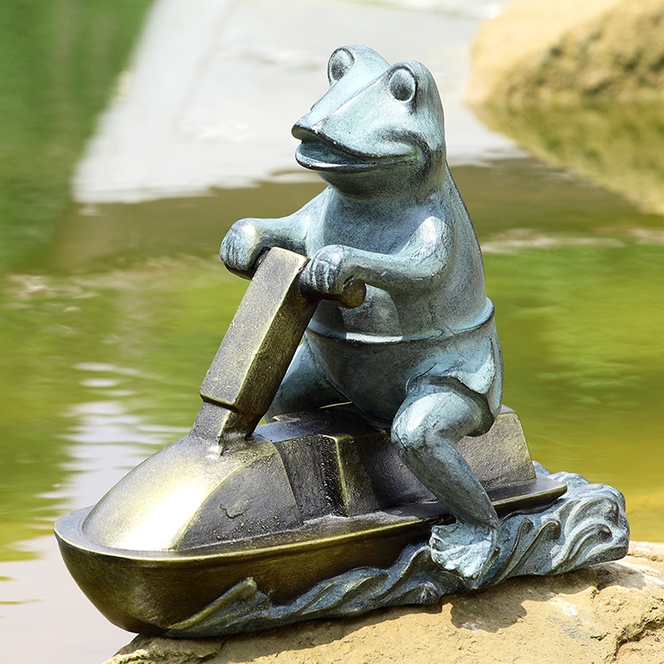 Jetski Frog Garden Sculpture By SPI Home