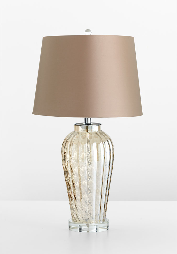 Jordan glass table lamp by cyan design for Contemporary decorative accessories
