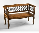 Jordan Wood and Iron Bench by Cyan Design