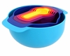 Joseph Joseph Nest 7 Plus Multicolor Mixing Bowls and Measuring Cups Set