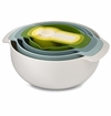 Joseph Joseph Nesting Kitchen Set Opal Mixing Bowls, Measuring Cups & Spoons