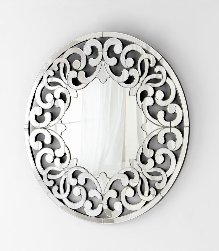 Jules Round Artistic Wall Mirror by Cyan Design