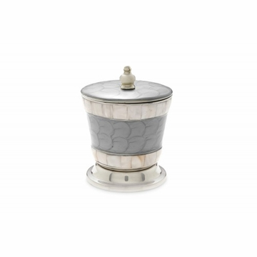 Julia Knight Classic 5.5'' Covered Canister Platinum