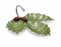 "Julia Knight Holly Sprig 13"" 3-part Server - Mojito"