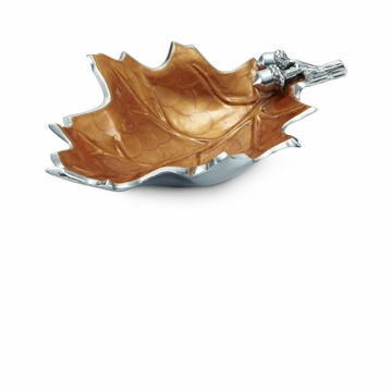 Julia Knight Oak Leaf 13'' Bowl - Spice