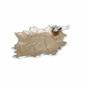 "Julia Knight Oak Leaf 18"" Platter Toffee"