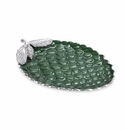 "Julia Knight Pine Cone 13"" Platter Emerald"