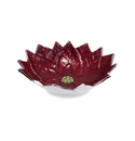 "Julia Knight Poinsettia 9""  Bowl Pomegranate"