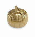 "Julia Knight Pumpkin 5"" Covered Bowl Gold"