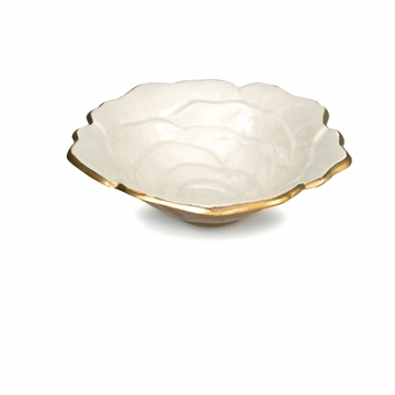Julia Knight Rose 15'' Bowl Gold Snow