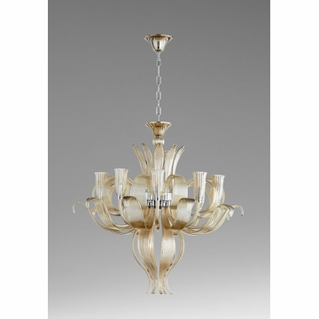 Juliana 10 Light Glass Chandelier by Cyan Design
